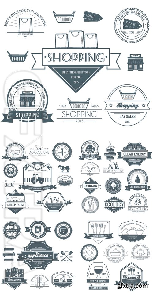 Stock Vectors - Set label template of emblem element for your product or design