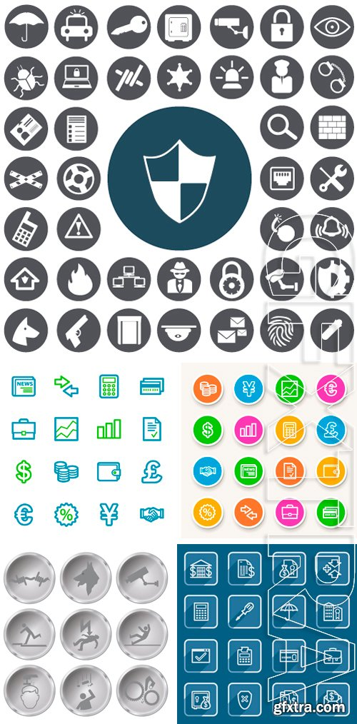 Stock Vectors - Security icons set