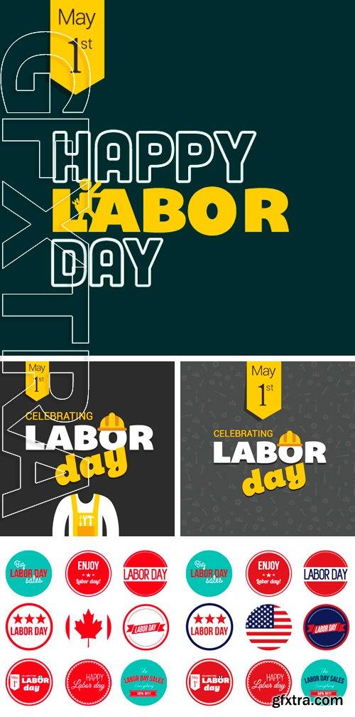 Stock Vectors - Labor Day Large set