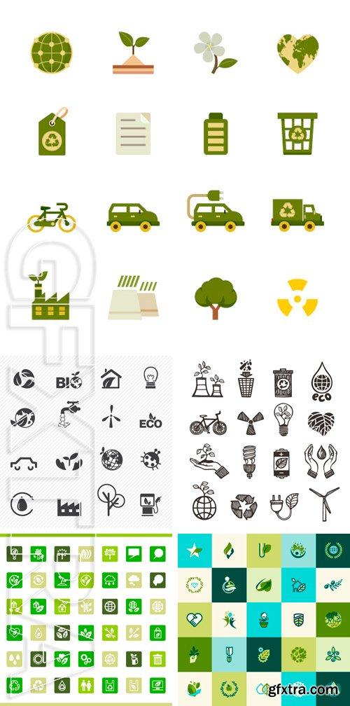 Stock Vectors - Eco icons set vector