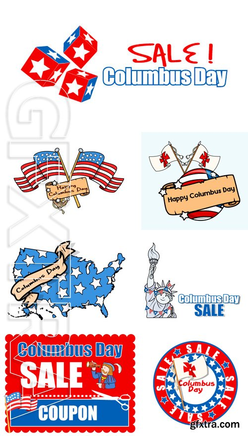 Stock Vectors - Columbus Day Sale Banner