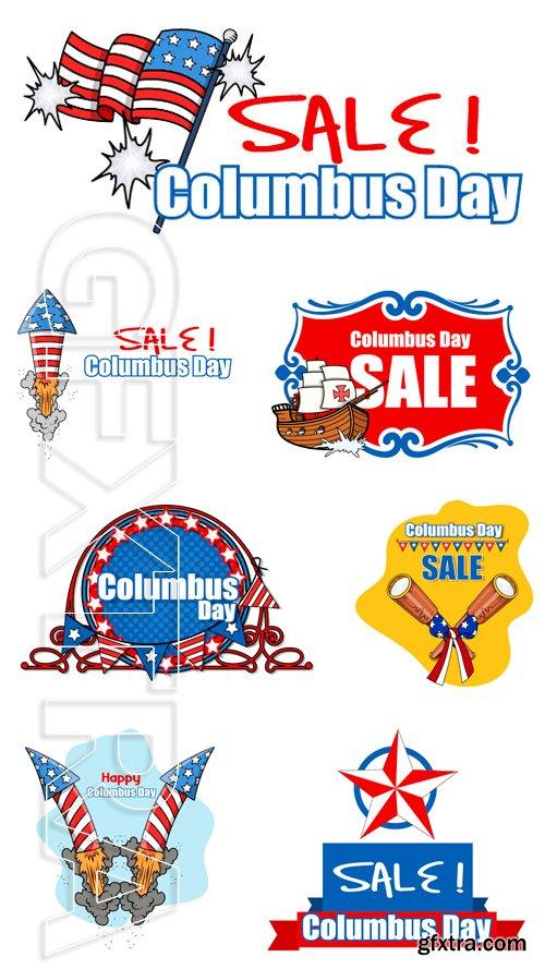 Stock Vectors - Columbus Day Sale Banner 2