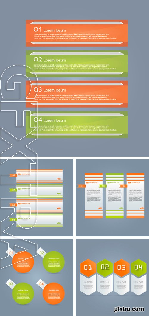 Stock Vectors - Business infographics template for presentation, education, web design, banners, brochures, flyers