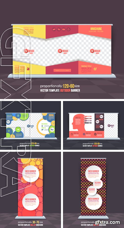 Stock Vectors - Abstract Theme Business Roll-Up Banner Design