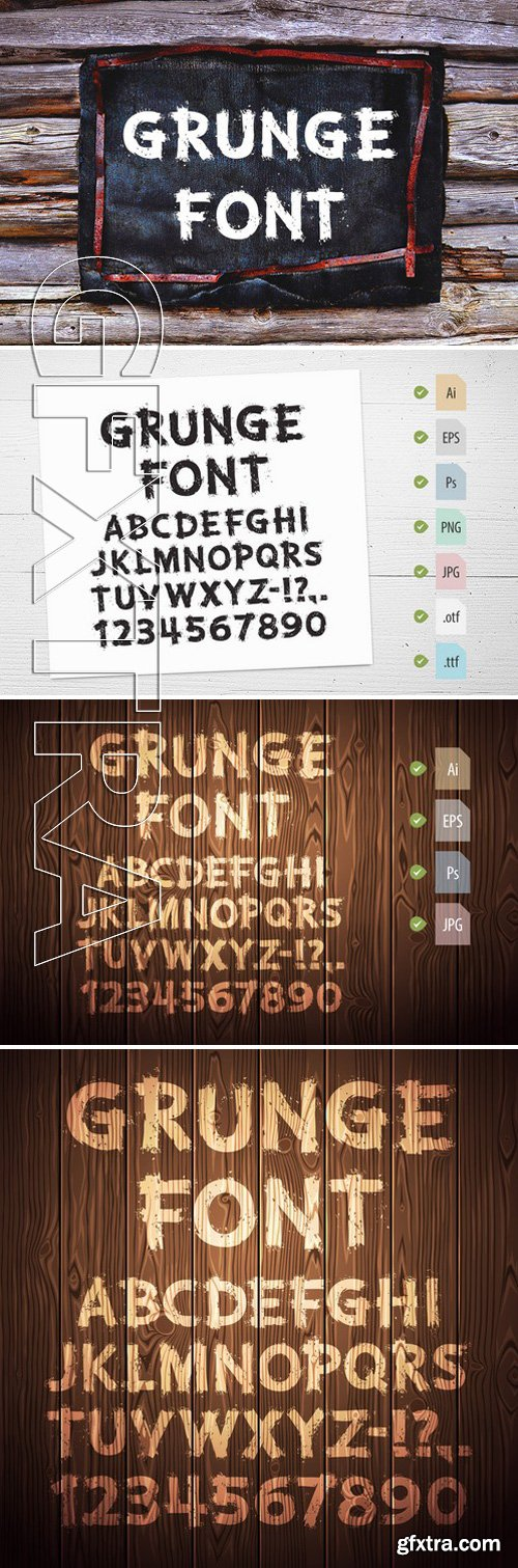 CM250690 - Grunge Letters and Numbers