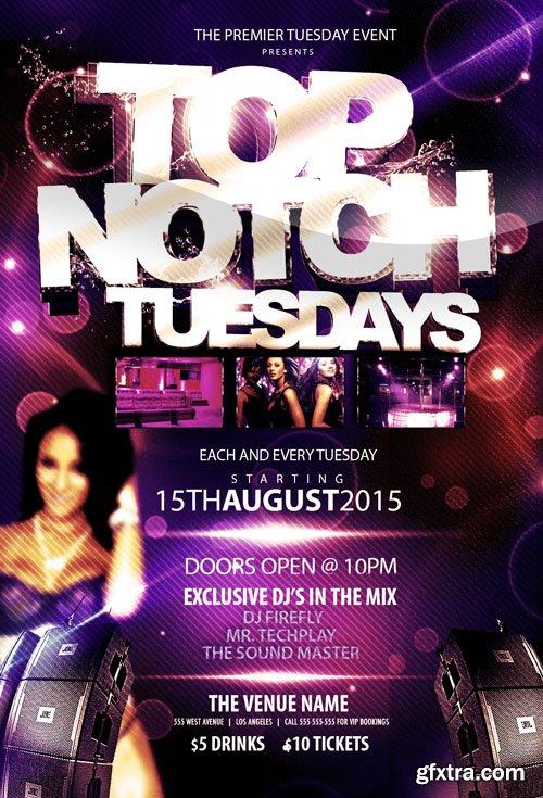Top Notch Tuesday Flyer Template