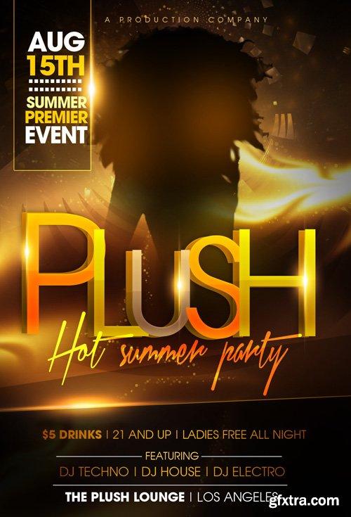 Plush Hot Summer Flyer Template