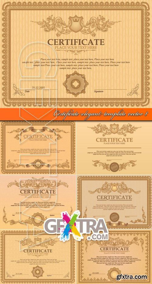 Certificate elegant template vector 8