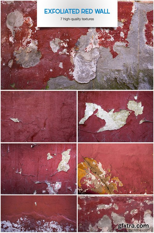 Exfoliated Red Wall - Stock Textures