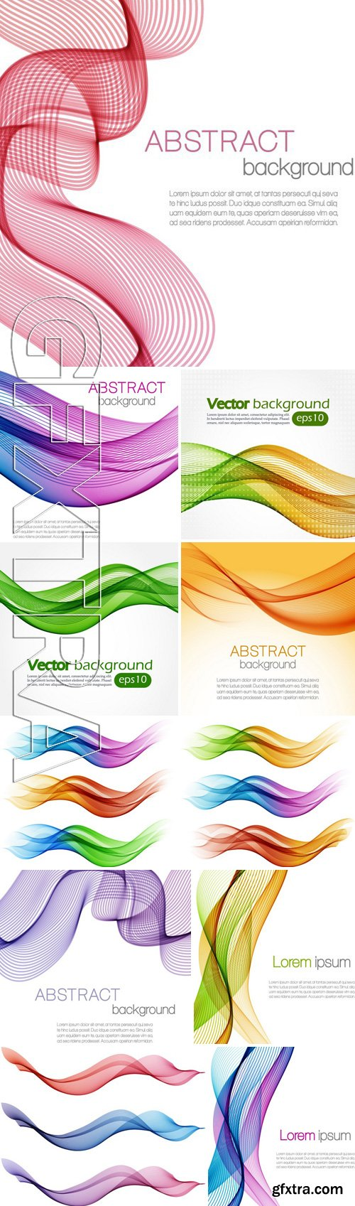 Stock Vectors - Abstract color waves isolated on white