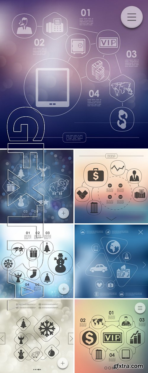 Stock Vectors - Business Infographic With Unfocused Background