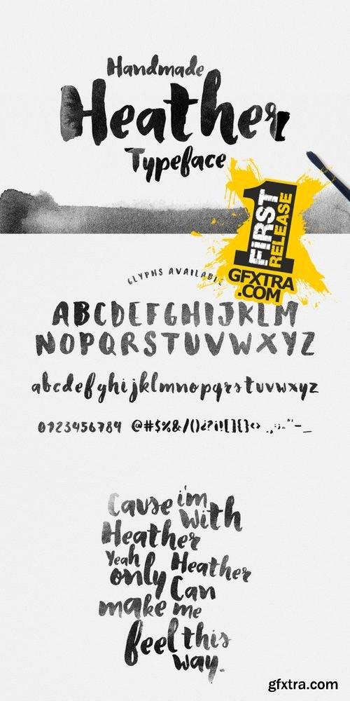 Heather Typeface - CM 195126