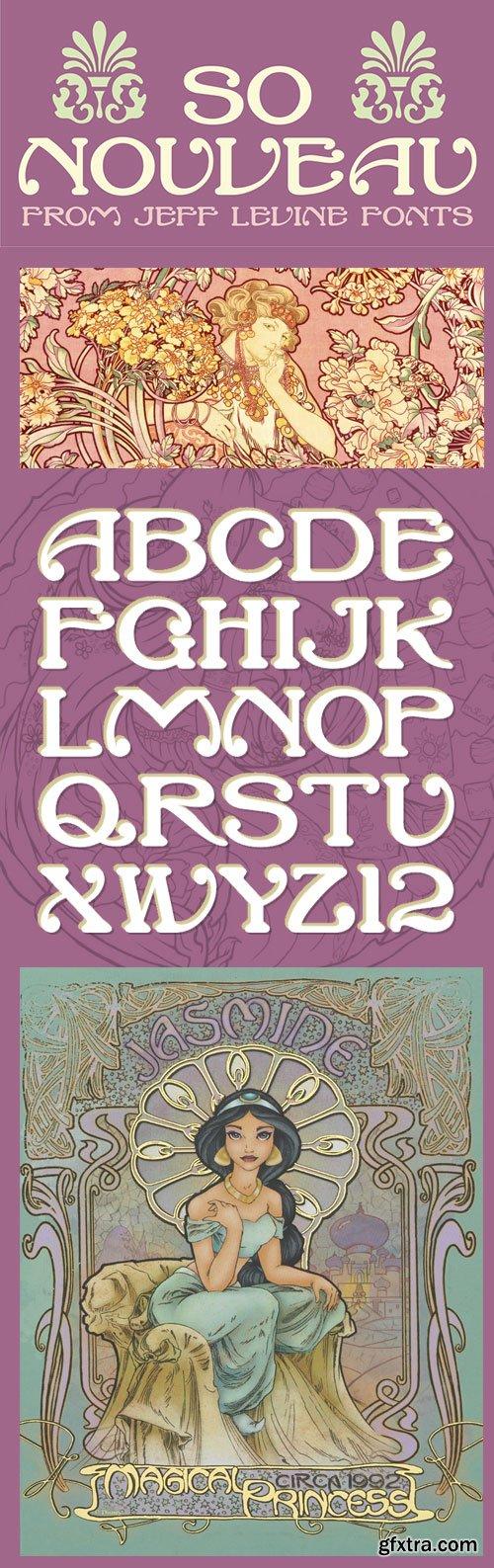 So Nouveau - A Nostalgic Charm Typeface OTF $25