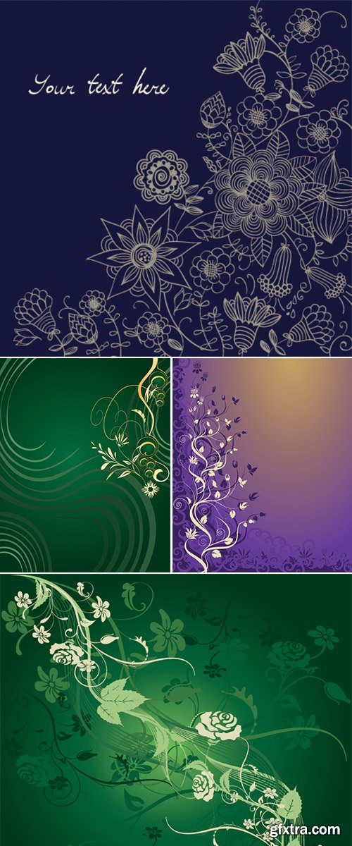 Vector Stock Floral background
