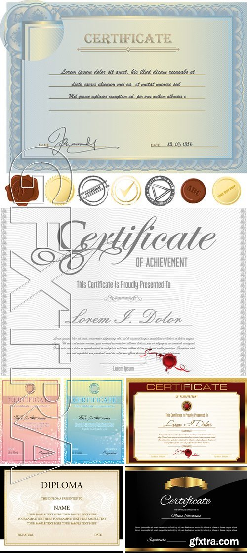 Stock Vectors - Certificate Template 18