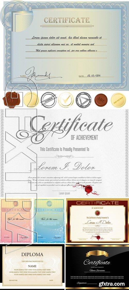 Stock Vectors - Certificate Template 18