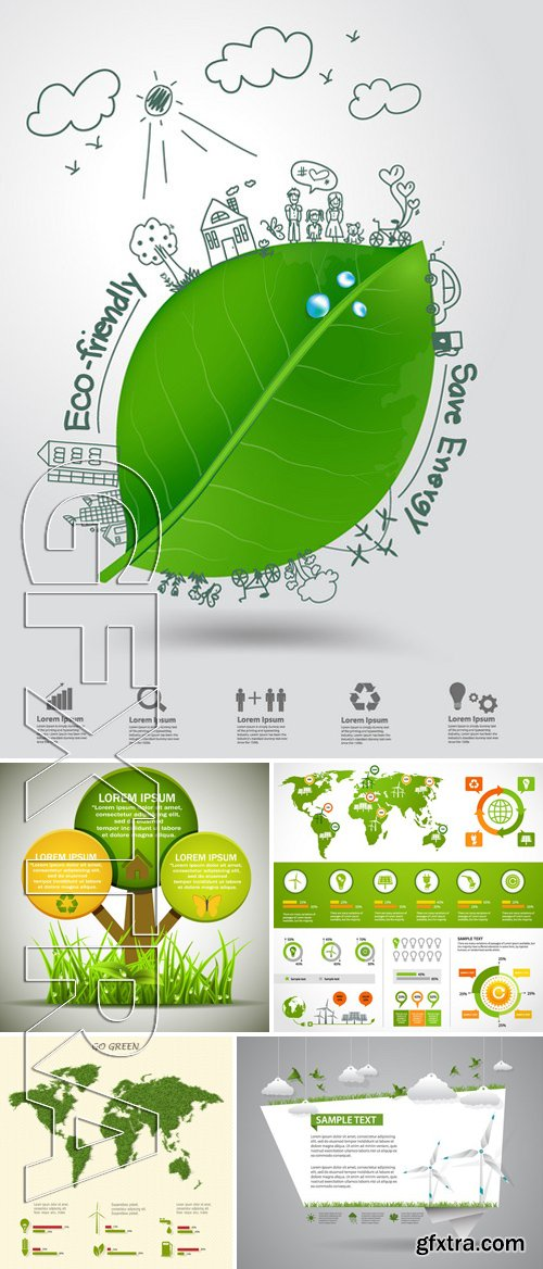Stock Vectors - Ecology template 8