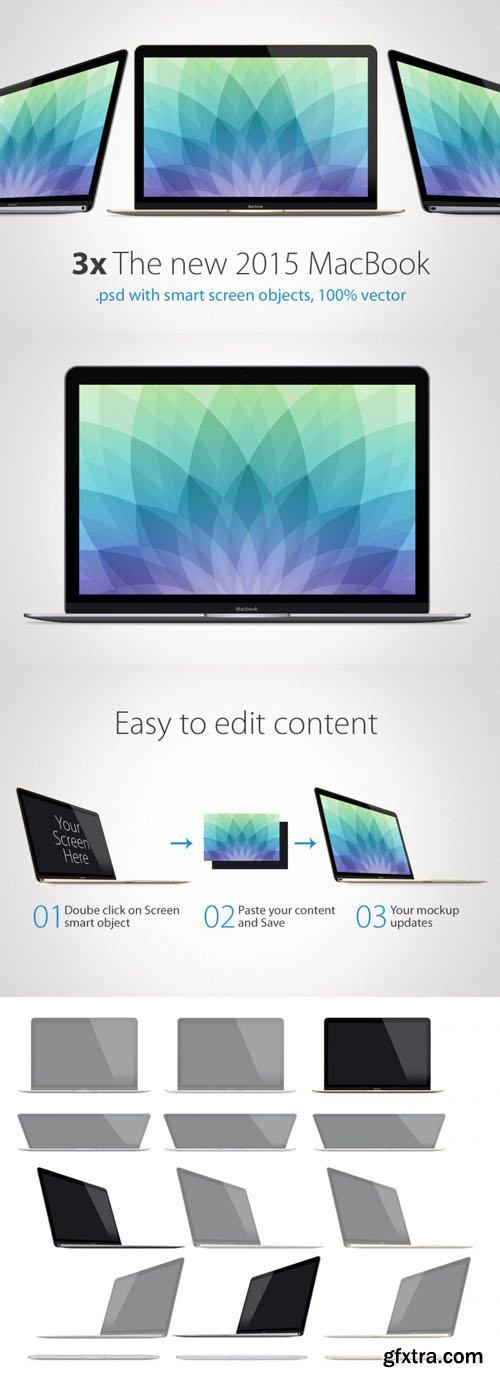 2015 MacBook Presentation Mock-Up Templates