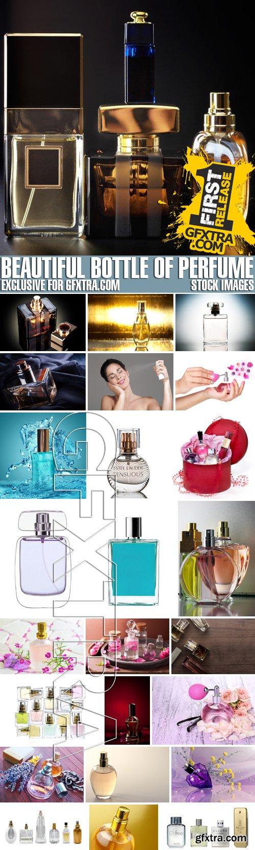 Stock Photos - Beautiful bottle of perfume
