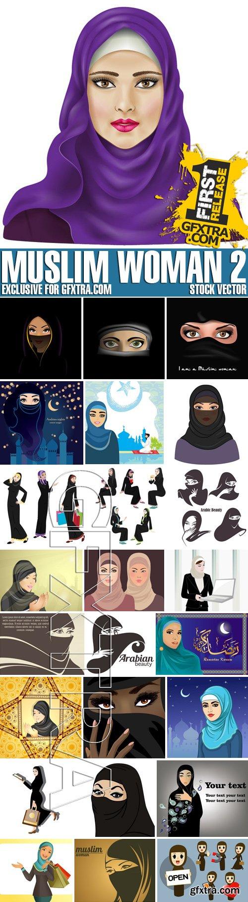 Stock Vectors - Muslim woman 2, 25xEPS