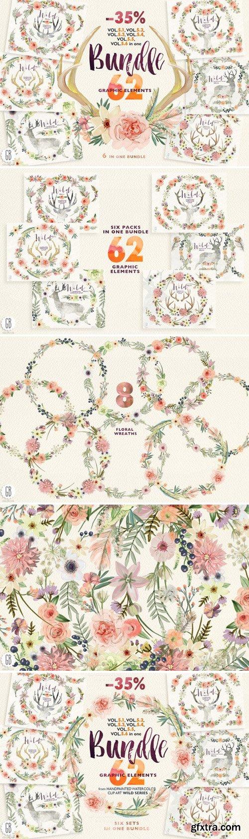 CM - Floral BUNDLE. Wild complete Vol.5 246755
