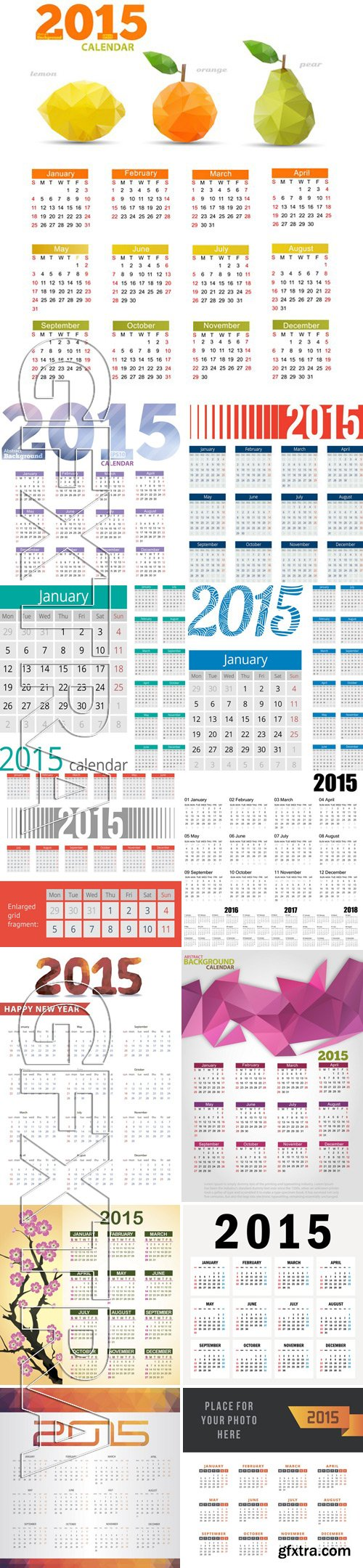 Stock Vectors - Calendar 2015 7