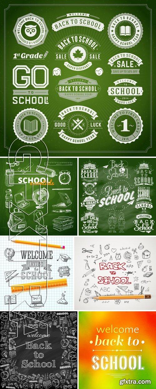 Stock Vectors - Back to School 3