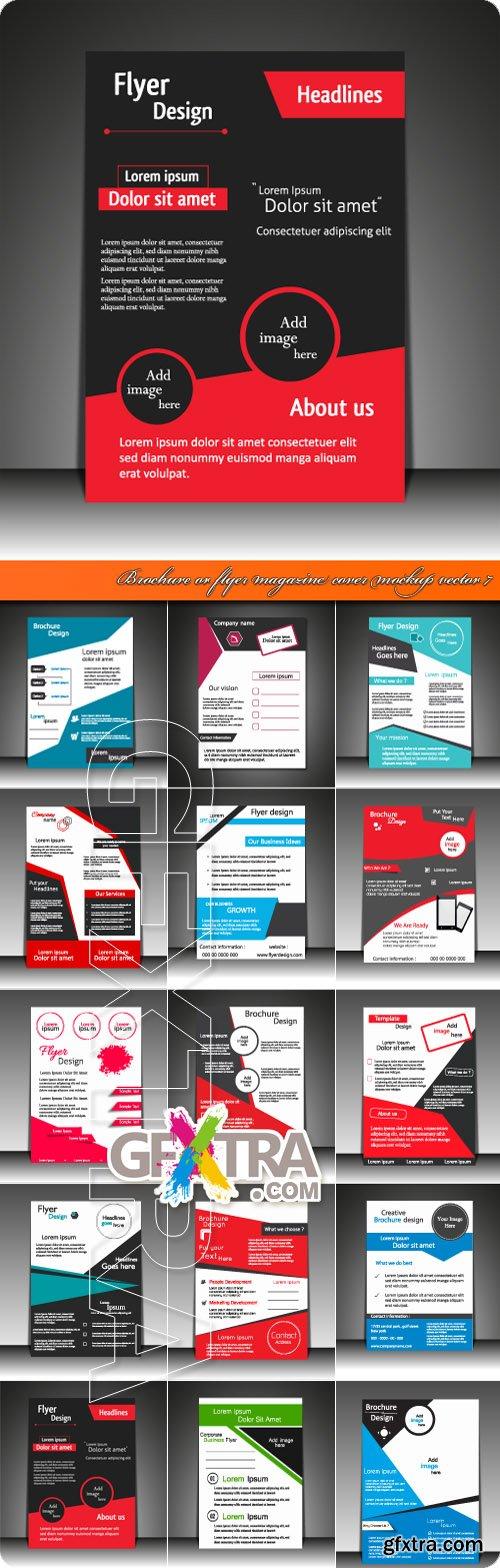 Brochure or flyer magazine cover mockup vector 7