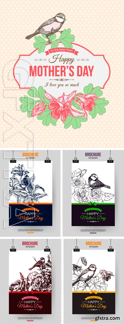 Stock Vectors - Happy Mother Day Typographical Background