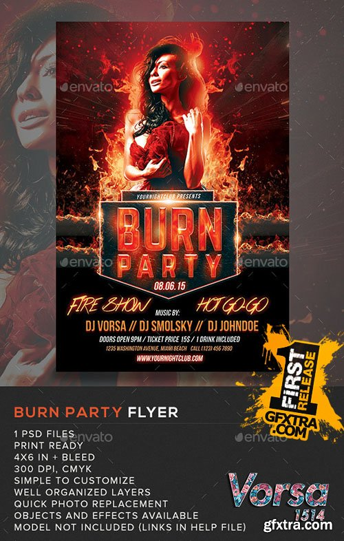 GraphicRiver Burn Party Flyer Template