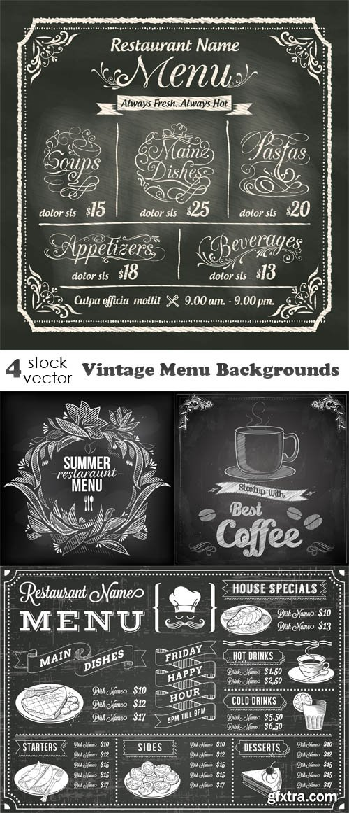 Vectors - Vintage Menu Backgrounds
