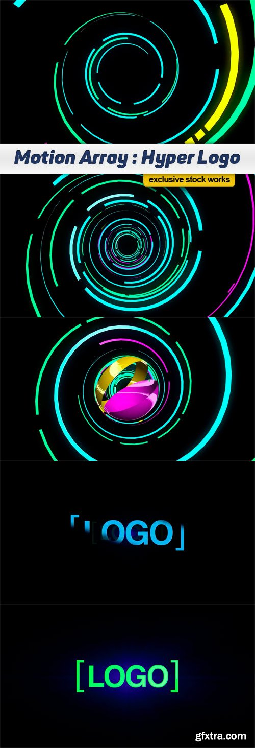 Motion Array - Hyper logo After Effects Template