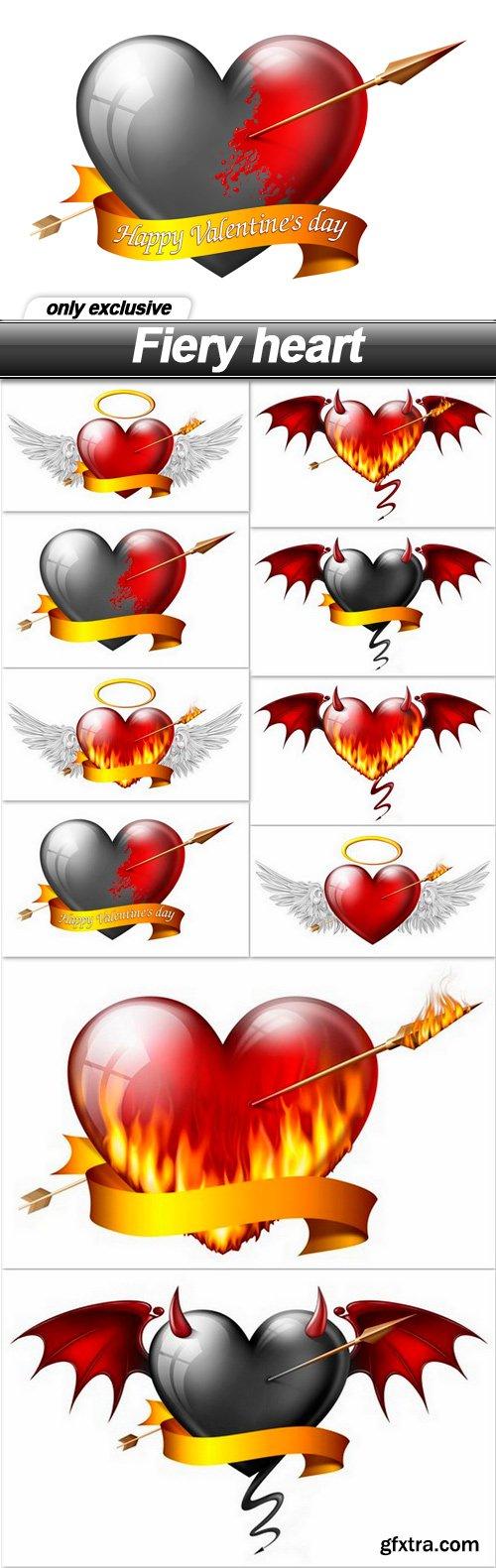 Fiery heart - 10 UHQ JPEG