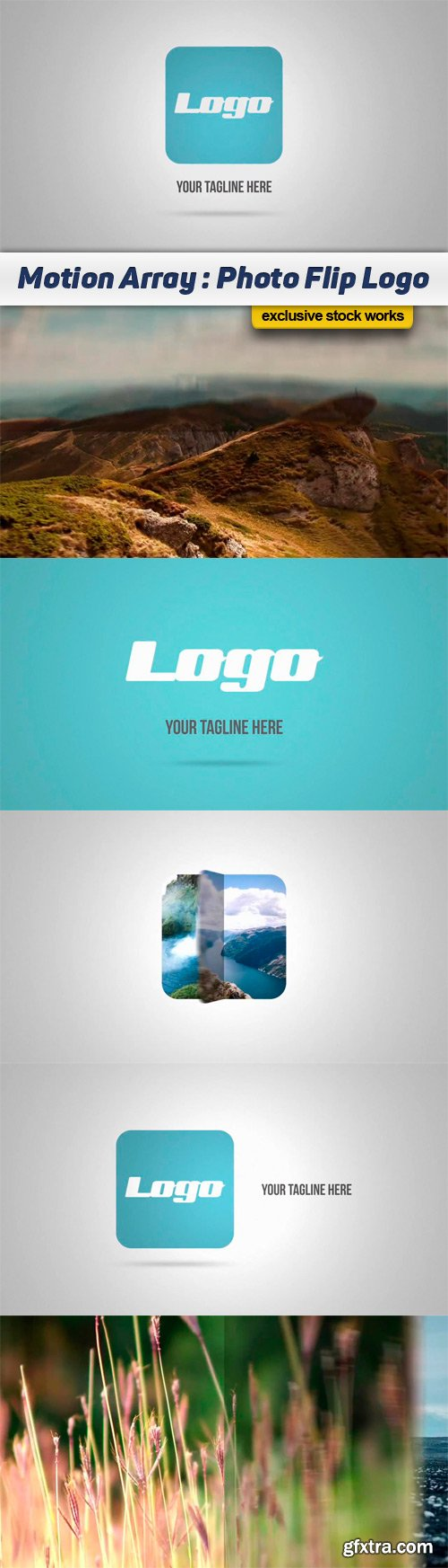 Motion Array - Photo Flip Logo After Effects Template