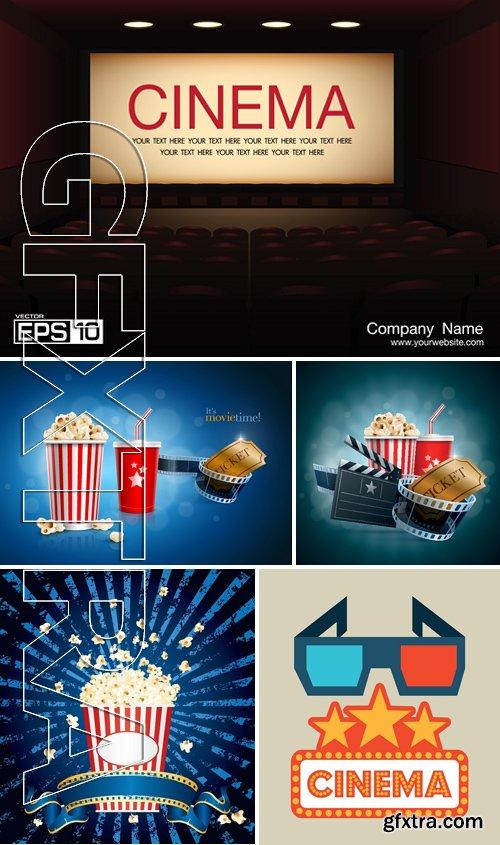 Stock Vectors - Cinema and Film