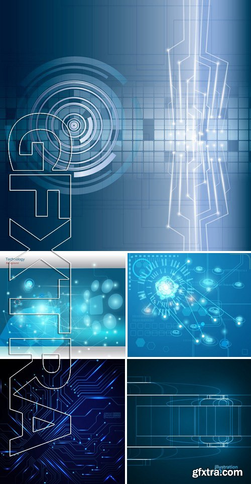 Stock Vectors - Technology Background 9