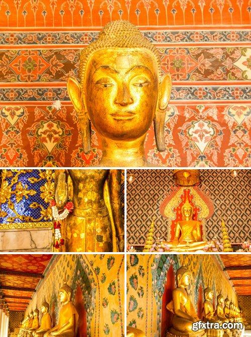 Stock Photos - Buddha At Main Altar Of Wat Molee In Bangkok, Thailand