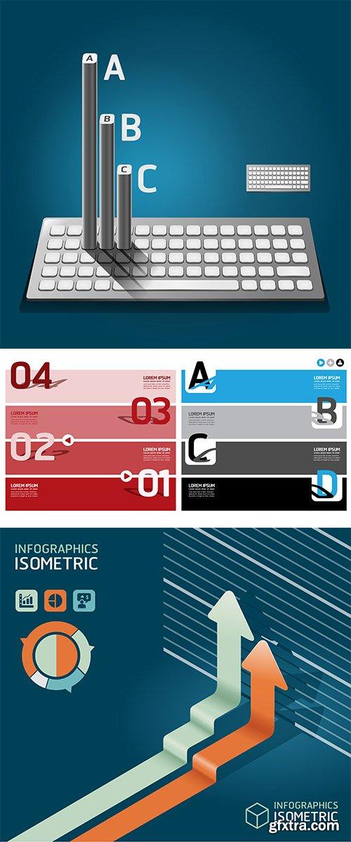 Vector Stock Modern keyboard infographics education