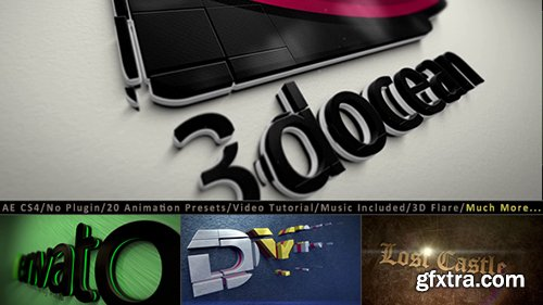 Videohive 3D Logo Title Intro Animation Kit 9601635