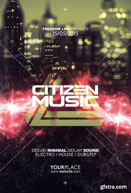 Citizen Music Flyer Template