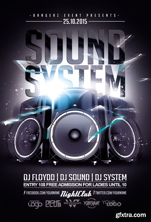 Sound System Party Flyer Template