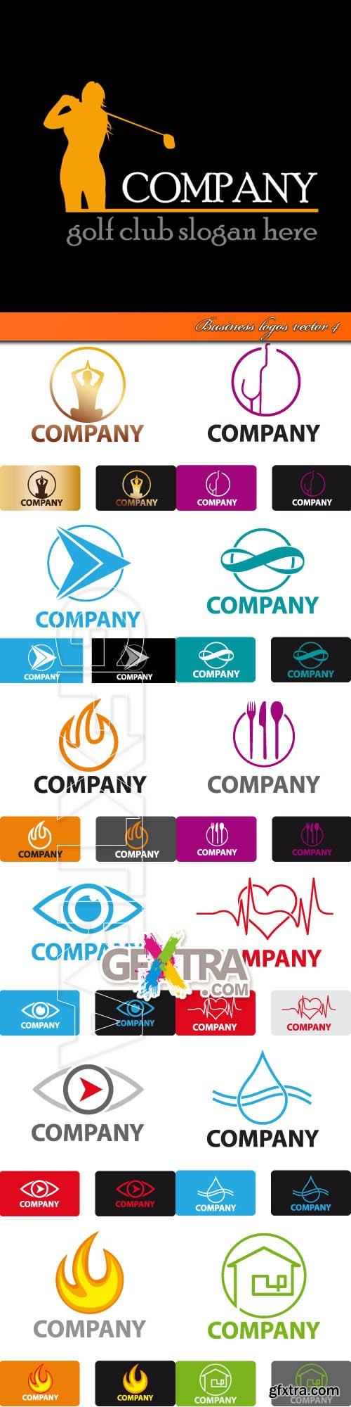 Business logos vector 4