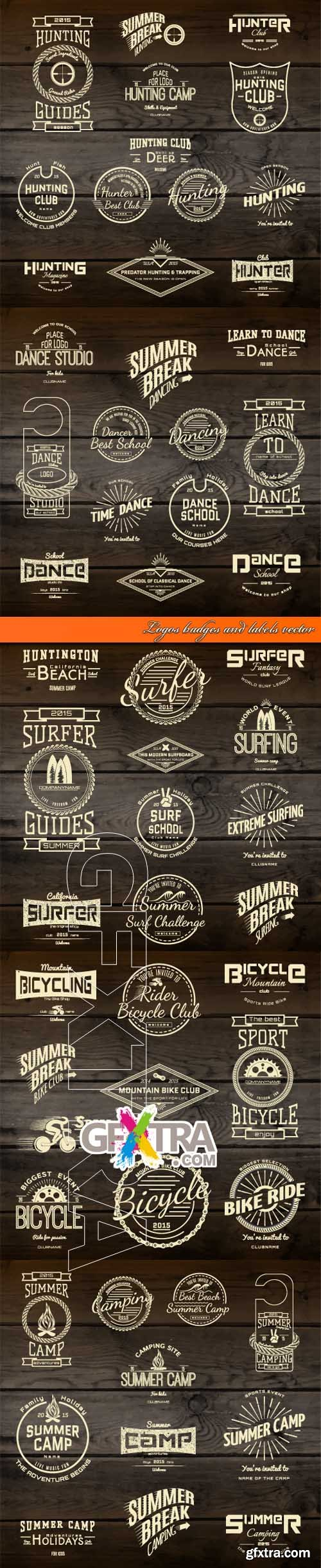 Logos badges and labels vector