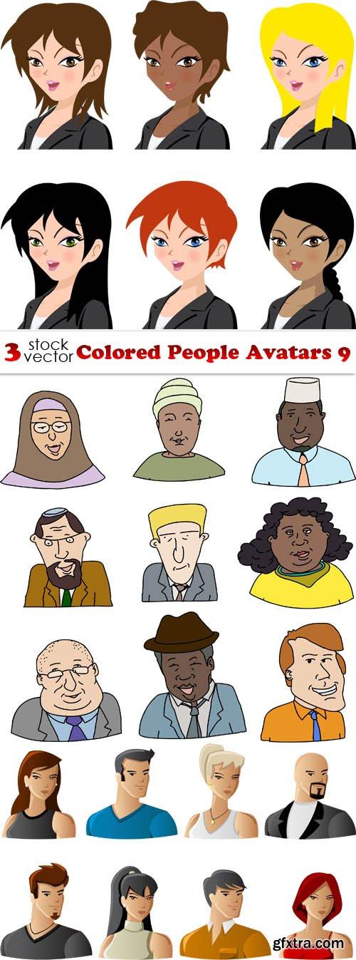 Vectors - Colored People Avatars 9