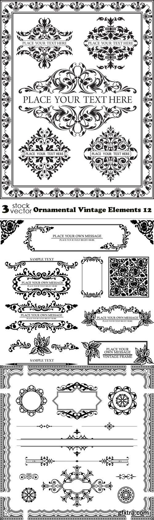 Vectors - Ornamental Vintage Elements 12