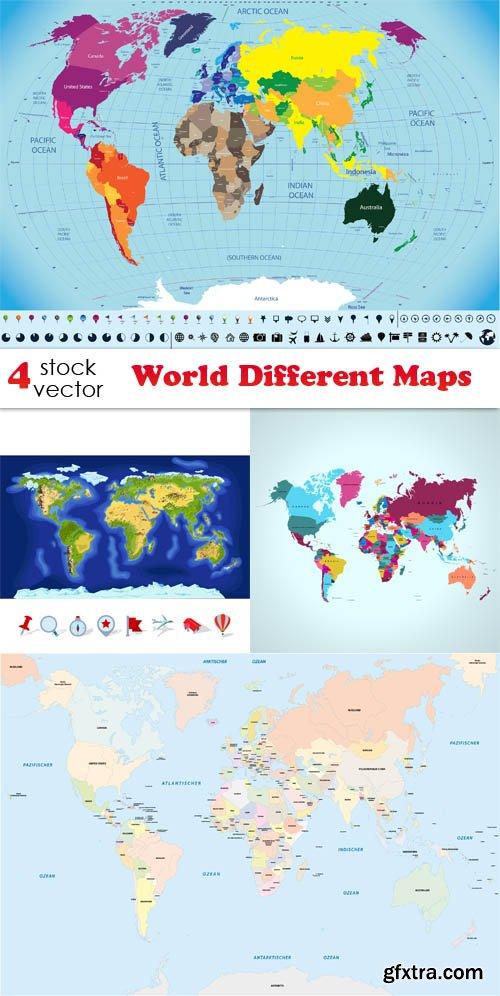 Vectors - World Different Maps