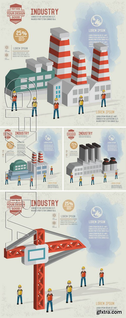 Stock Vectors - Factory, construction and industry design, clean vector