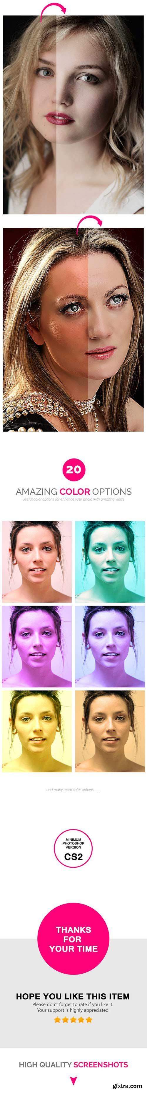 GraphicRiver - Pro Beauty Retouch - PHOTOSHOP ACTION 11303319