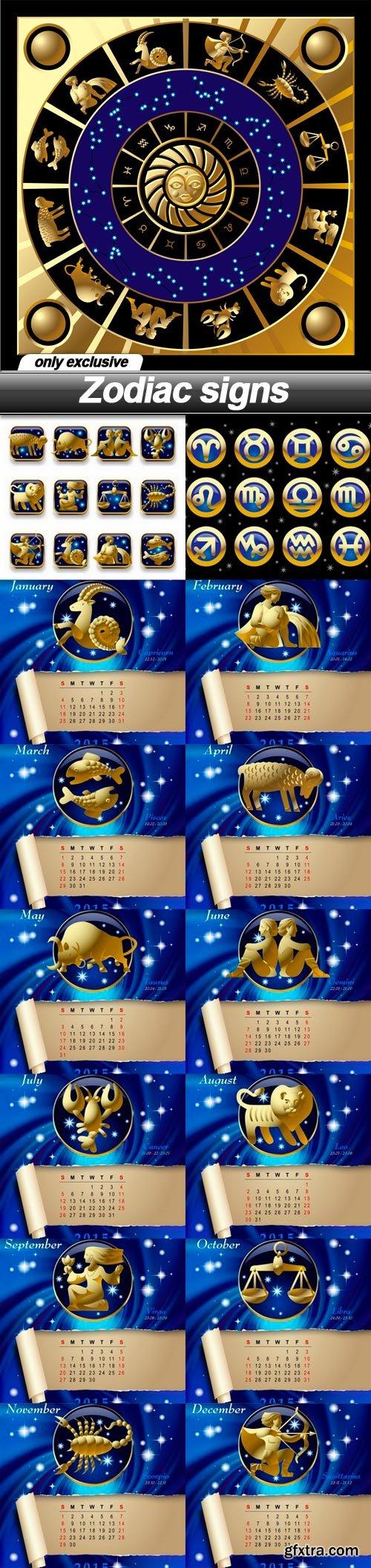 Zodiac signs - 15 EPS