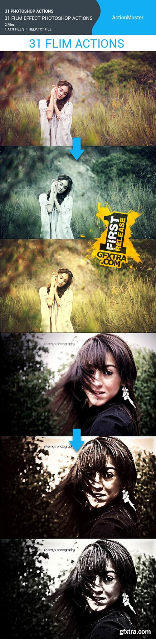 GraphicRiver - 31 Film Effect Photoshop Actions 11355862